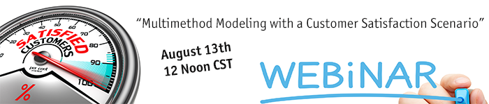 Webinar: Multimethod Modeling with a Customer Satisfaction Scenario