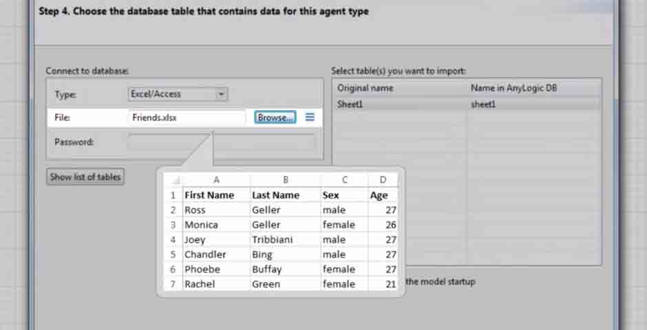 Reading Agent Attributes from a Database