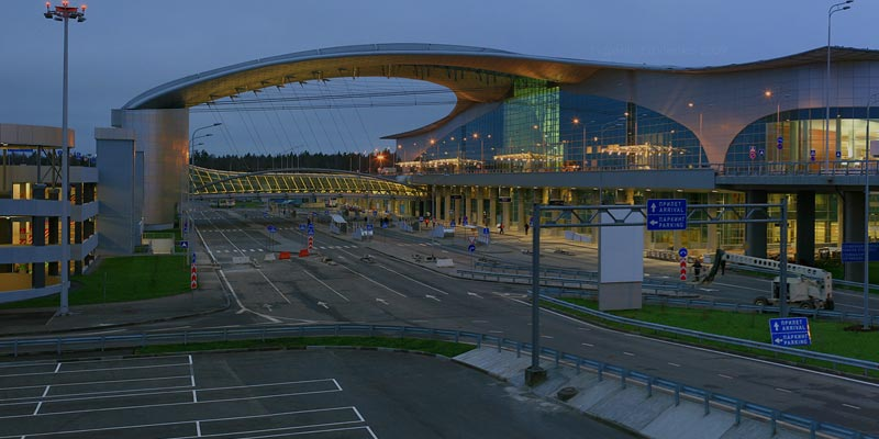 Pedestrian Simulation and Road Traffic Modeling at Sheremetyevo Airport
